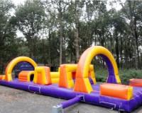 Hindernisbaan oranje/geel/paars 14 m.